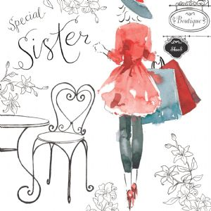 NES28  Special Sister Birthday Card